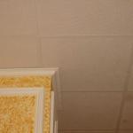 Colocación de techo desmontable y remate de juntas con moldura