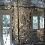 Aislamiento térmico en vivienda mediante aislante multicapas trisodur de actis con trasdosado